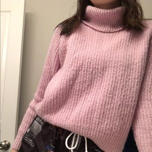 Light Purple/Pink Forever 21 Turtleneck Sweater